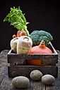 Assortment of vegetables in crate - LVF002499
