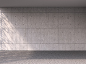 Empty room with concrete wall and floor, 3D Rendering - UWF000295