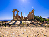 Italy, Sicily, Akragas, view to temple of Hera, temple D, at temple valley - AMF003502