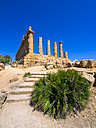 Italy, Sicily, Akragas, view to temple of Hera, temple D, at temple valley - AMF003503