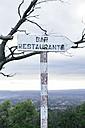 Spain, Mallorca, Felanitx, sign for bar and restaurant - DW000233