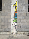 Spain, Majorca, Palma, painting at an unfinnished building - MS004404