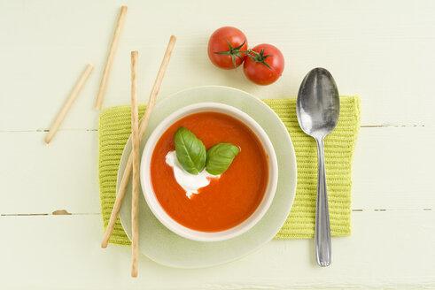 Tomato cream soup with grissini - ECF001620