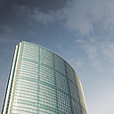 Netherlands, Rotterdam, view to modern office building from below - DWIF000357