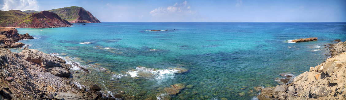 Spain, Balearic Islands, Menorca, Cala Pilar beach - EHF000013