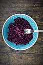 Fork of boiled red cabbage - LVF002533