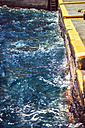 Greece, Cyclades, Santorini, moving water at quay wall - EH000024