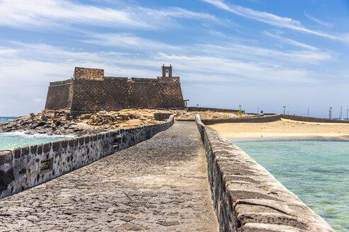 Spain, Lanzarote, Arrecife, Castillo de San Gabriel - AMF003554