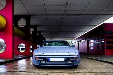Germany, Berlin, sports car at gas station - BIG000049