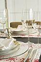 Festive laid dinner table - JUNF000144