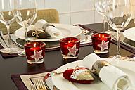 Festive laid dinner table - JUNF000154