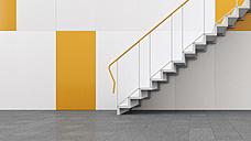 3D rendering of staircase in building - UWF000311