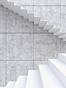 3D rendering of interior concrete wall and stairs - UWF000314
