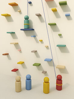 3D rendering of game pieces in climbing gym - UWF000329