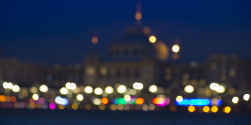 Netherlands, South Holland, The Hague, Scheveningen, beach at night, blurred - WIF001217