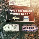 Italy, Liguria, Portofino, signpost - GWF003446