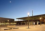 Germany, Berlin, Berlin Brandenburg Airport at dusk - BFR000847