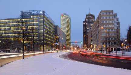 Germany, Berlin, traffic at Potsdamer Platz - BFR000849