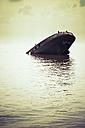 Germany, hamburg Ship wreck in water - KRP001175
