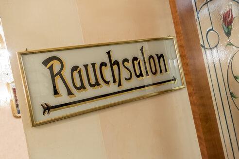 Austria, Sign 'Rauchsalon' - EJW000624