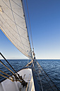 Pacific Ocean, sailing ship at Galapagos Islands - FOF007536
