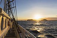 Pacific Ocean, sailing ship at Galapagos Islands - FOF007546