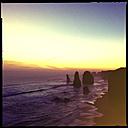 cliff, sunset, seven sisters, beach, water, sea, erosion, princetown, city victoria, australia - LUL000034