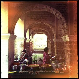 restaurant at temple, mandalay, myanmar - LUL000205