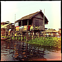 floating village, inle lake, myanmar - LUL000211