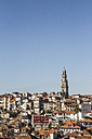 Portugal, Porto, View to old town with Torre dos Clerigos - KBF000278