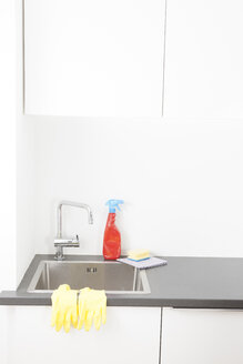 Sink and cleaning utensils in kitchen - FLF000795