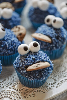 Cookie Monster Muffins on a plate - IPF000174