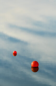 Water reflection and buoys on a lake - EJWF000636