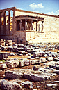 Greece, Athens, ancient porch of caryatides with excavation site in the foreground - EHF000080