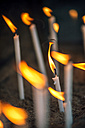 Turkey, Ephesus, lightened votive candles in the House of the Virgin Mary - EHF000086