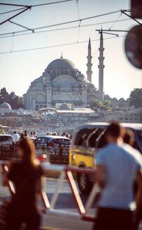 Turkey, Istanbul, Galata Bridge and Yeni Cami - EHF000108