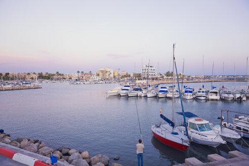 Spain, Balearic Islands, Majorca, Harbour, Portixol near Palma de Mallorca - MEM000667
