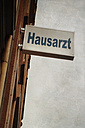 Germany, Wuppertal, sign at house wall - DWI000378