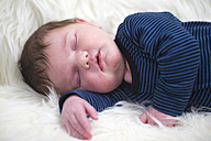 Portrait of sleeping baby boy - ROMF000043