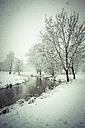 Germany, Bavaria, Landshut, Mulde in winter - SARF001270