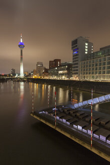 Germany, Duesseldorf, media harbor at night - WIF001317