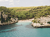 Spain, Menorca, Cala Macarelleta, View of Macarelleta beach - RAEF000004