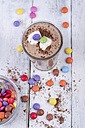 Chocolate smoothie with marshmallows and chocolate drops - ODF001070