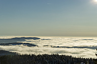 Germany, Baden-Wuerttemberg, Black Forest, View over clouds in winter - JUNF000170