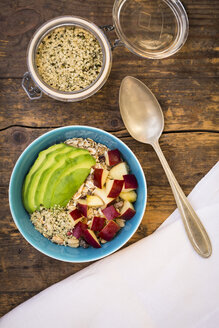 Superfood, avocado apple granola with organic hemp seeds - LVF002646