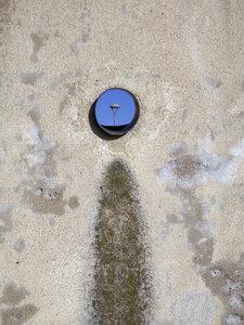 Street light behind hole in wall - JMF000324