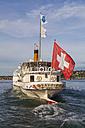 Switzerland, Geneva, Lake Geneva, paddlesteamer Savoie - WD002857