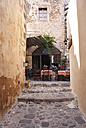 Greece, Monemvasia, restaurant in old town - WW003504