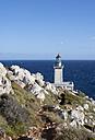 Greece, Mani peninsula, lighthouse at Cape Tenaro - WWF003536