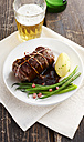 Beef roulade with gree beand and boiled potato - KSWF001380